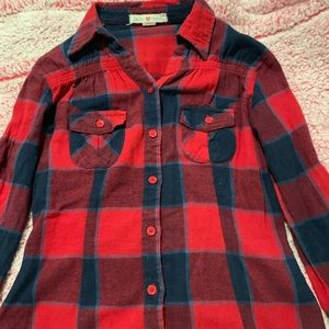 Derek Heart blue and red flannel